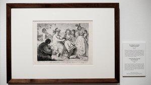 Uno de los dibujos expuestos en 'Solo la voluntad me sobra'.