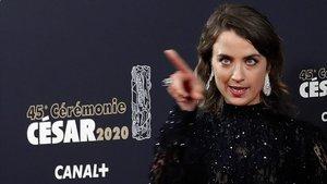 Adele Haenel, actriz que se se marchó de la gala al conocer el César a Polanski.