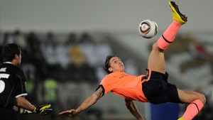 Zlatan Ibrahimovic, especialista en chilenas.