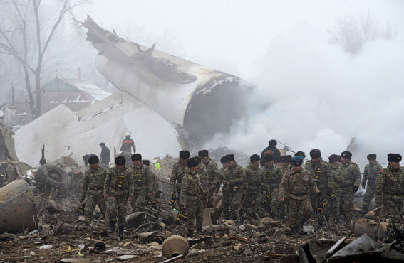 37 morts a lestavellar-se un avió de càrrega turc sobre unes cases al Kirguizistan