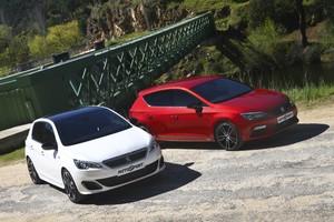 Seat León Cupra vs Peugeot 308 GTi 270: Zarpazos en el asfalto