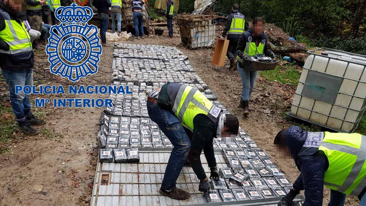La Policía Nacional se incauta de 1,2 toneladas de cocaína y desarticula una organización criminal