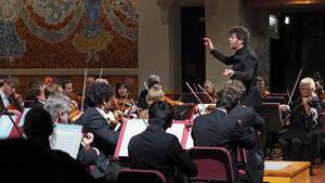 Pablo Heras-Casado, al frente de la Filarmónica de Múnich, en el Palau de la Música