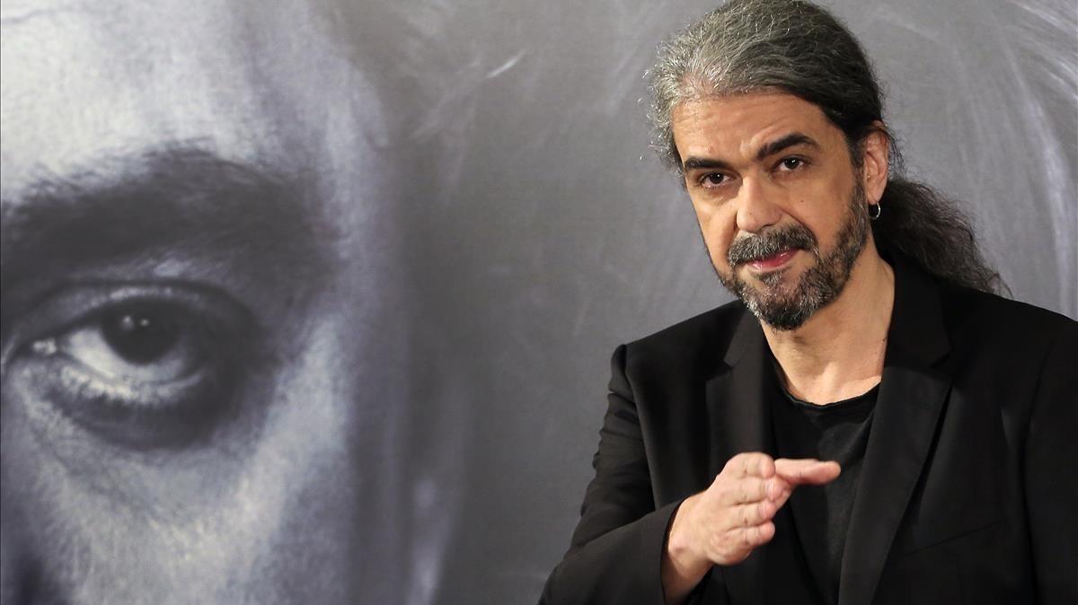 Fernando León de Aranoa, en la presentación de Loving Pablo en Madrid, el 6 de marzo