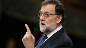Mariano Rajoy, el pasado miércoles, en el Congreso de los Diputados.