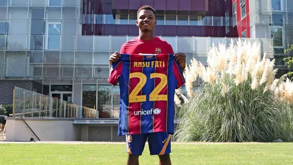 Ansu Fati pasa a formar parte del primer equipo y lucirá el dorsal 22