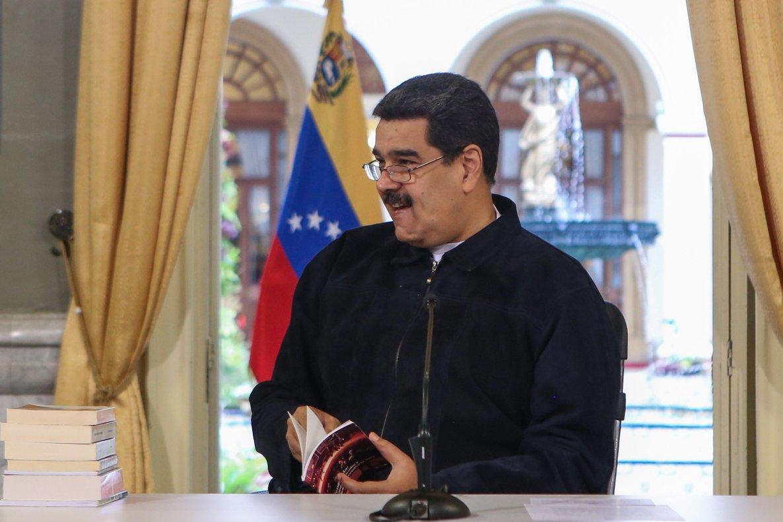 CARACASVENEZUELA-Maduro nego hoy haber financiado la caravana de migrantes hondurenos que en los ultimos dias emprendieron un viaje hacia EE UU.EFE PRENSA MIRAFLORES