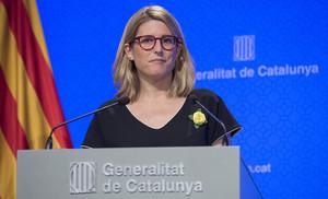 Elsa Artadi en una comparecencia de prensa.