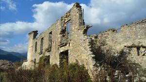 Jánovas, un pueblo abandonado de Huesca.