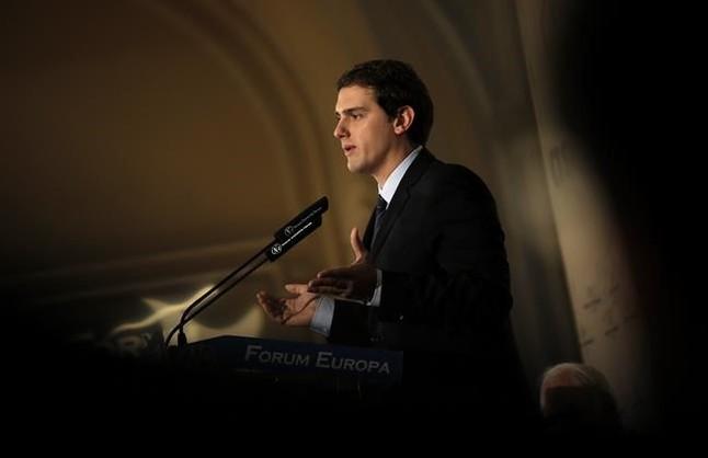 Albert Rivera, durante un coloquio en Madrid.