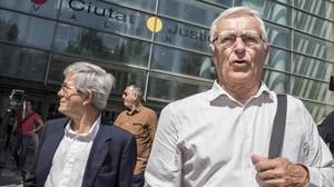 El alcalde de Valencia, Joan Ribó, tras declarar en los juzgados.
