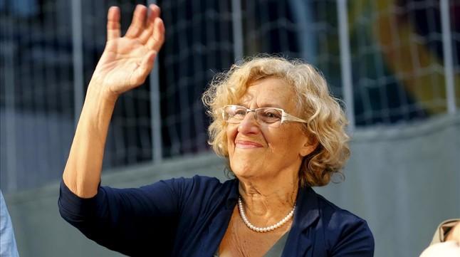 La alcaldesa de Madrid, Manuela Carmena, en su visita a Barcelona el pasado 4 de septiembre.