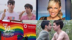 Algunos de los televisivos que se subirán en algunas carrozas del desfile del Orgullo LGTBIQ+ en Madrid.