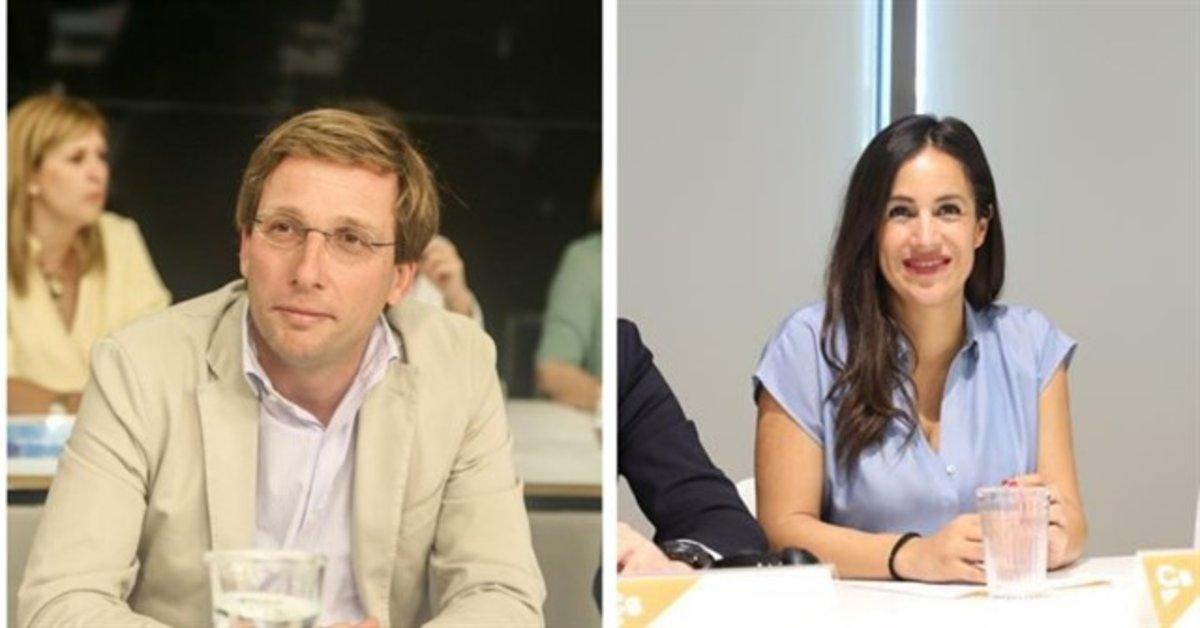 Los candidatos al Ayuntamiento de Madrid José Luis Martínez Almeida (PP) y Begoña Villacís (Cs).