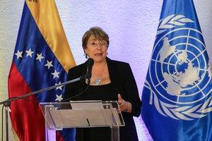 La Alta Comisionada de lasNaciones Unidas para los Derechos Humanos,Michelle Bachelet.