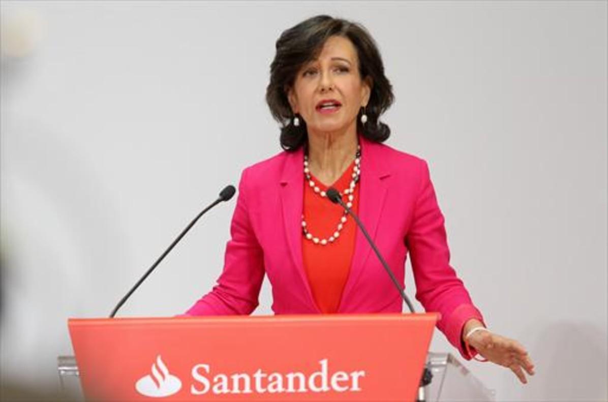 Ana Botín, presidenta del Santander.