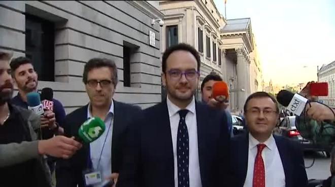 Hernando se reserva sus palabras para el segundo pleno de investidura, cuando tenga que defender la abstención del PSOE.
