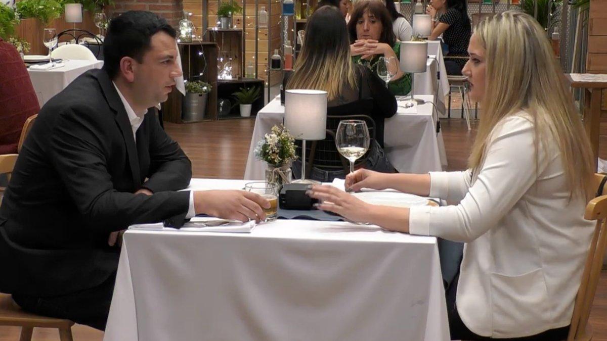 Antonio y Natalia en 'First Dates'.