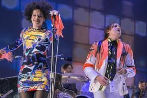 Arcade Fire, en el Parc del Fòrum, en el marco del Primavera Sound del 2014.