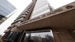 Imagen de archivo.La fachada de la Audiencia Provincial de Madrid.