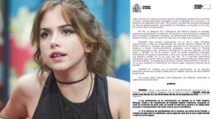 La autorización de la delegación del Gobierno para la concentración por el caso Carlota Prado en Mediaset.