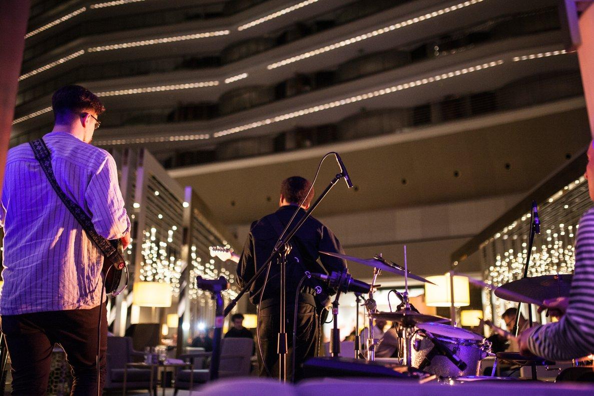 Imagen de un concierto en el hotelFairmont de Barcelona.