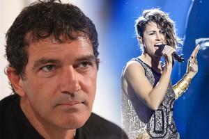 Antonio Banderas se une al aluvión de mensajes de los eurofans y da su apoyo a Barei
