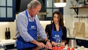 Bertín Osborne, con Inés Arrimadas, en uno de los programas de Mi casa es la tuya, en Tele 5.
