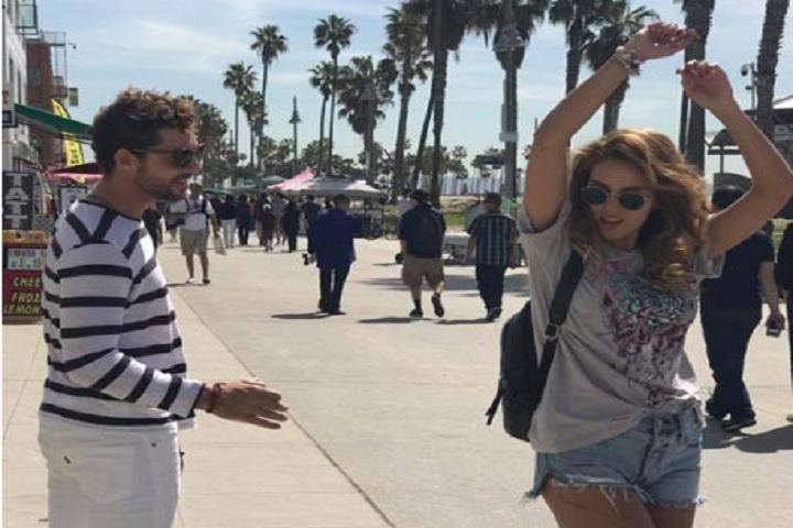 Ambos han disfrutado de un día de lo más primaveral el Venice Beach.