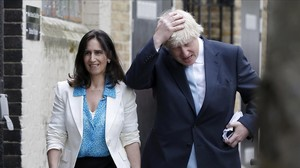 Boris Johnson y Marina Wheeler.
