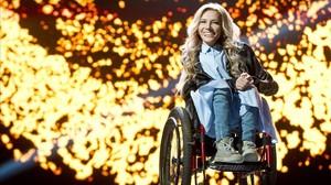 La cantante Yúlia Samóylova, representante de rusia en el Festival de la Canción de Eurovisión del 2017.