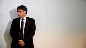 Carles Puigdemont, en una comparecencia el pasado 12 de febrero en Berlín.