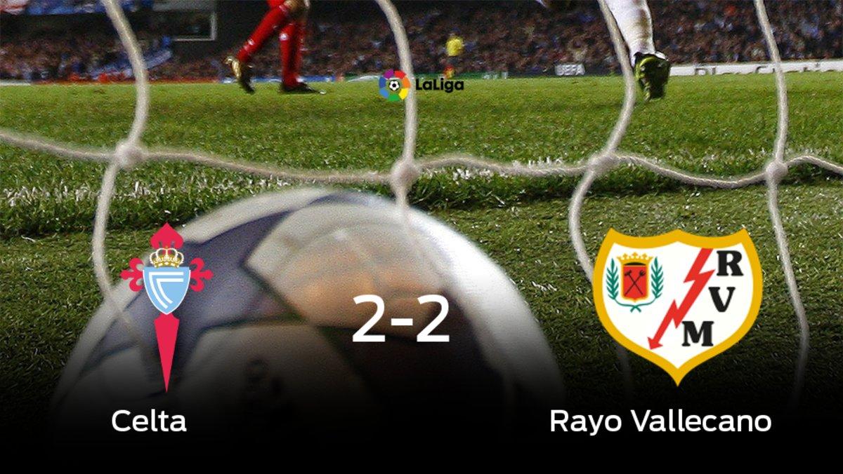 El Celta y el Rayo Vallecano empatan a 2 en el Abanca Balaídos