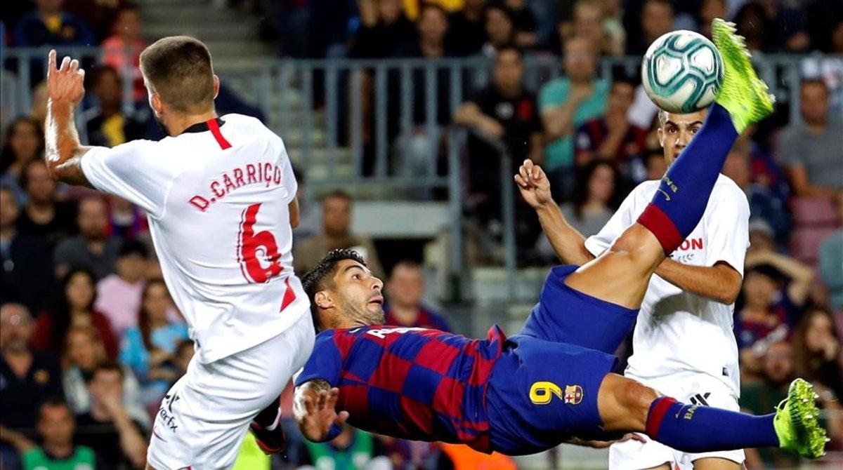 La chilena de Luis Suárez que ha significado el 1-0.