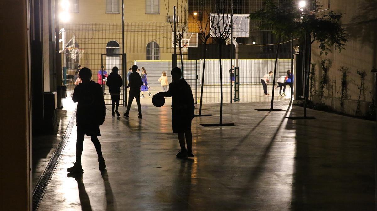 Imagen del colegio Vedruna de Gràcia, en Barcelona, este jueves.