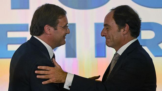 Passos Coelho se proclama vencedor al ganar las elecciones en Portugal.