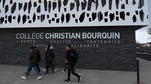 El colegio Christian Bourquin de Millas, donde estudiaban las víctimas.