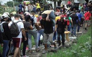 Inmigrantes veenzolanos en refugios deColombia.