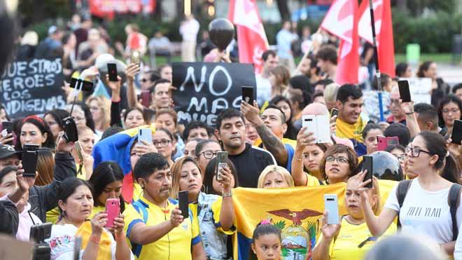 Concentración de residentes ecuatorianos en Barcelona
