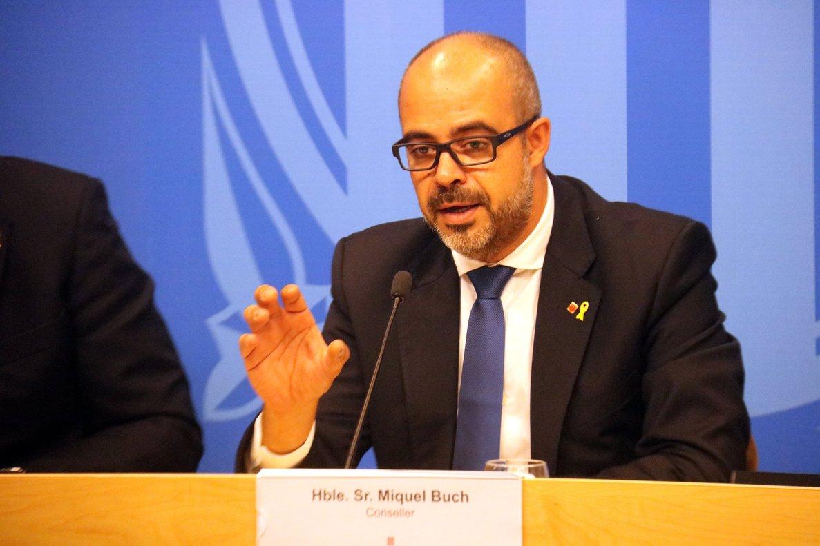 El conseller de Interior, Miquel Buch, en una imagen de archivo.