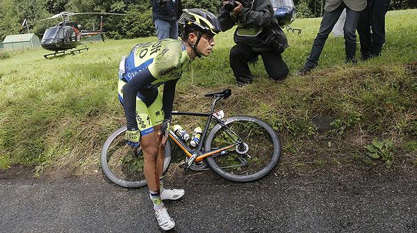 Contador abandona el Tour tras una aparatosa caída