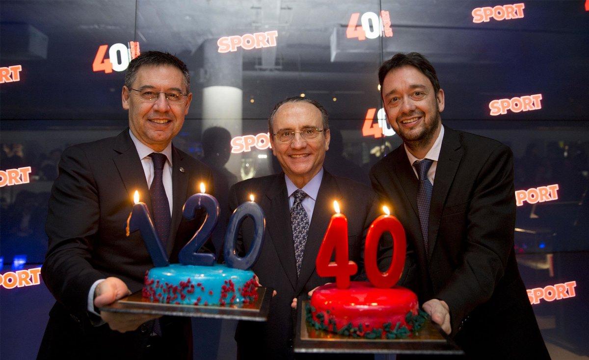 El diario SPORT celebra su 40 aniversario en el Museo del Barça.