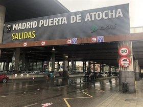 La estación de tren de Atocha en Madrid.