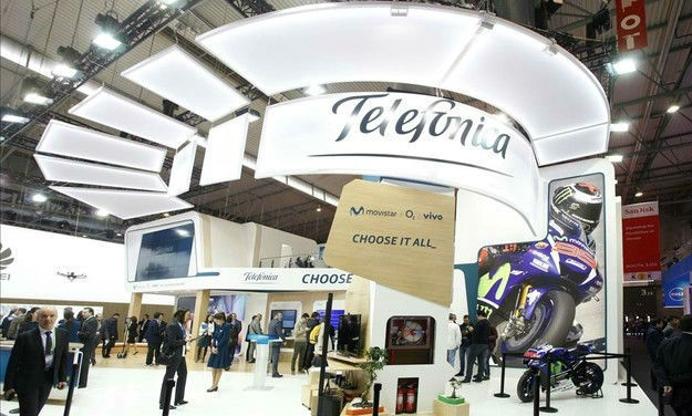 Estand de Telefónica en el Mobile World Congress.