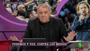 """Ferreras contesta a Pablo Iglesias por su crítica a 'Al rojo vivo': """"Trata de buscar una excusa por si les va mal el 28-A"""""""