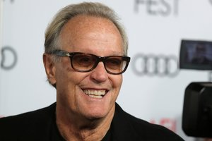 FILE PHOTO: Cast member Peter Fonda arrives for the screening of The Ballad of Lefty Brown at the AFI Film Festival in Los Angeles, California, U.S., November 14, 2017. REUTERS/Mike Blake/File Photo