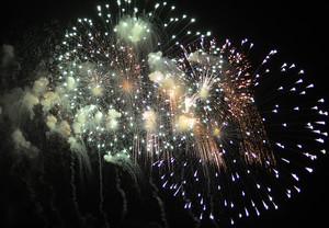 Imagen de archivo de un espectáculo de fuegos artificiales.