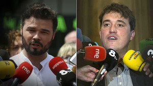 Gabriel Rufián y David Bonvehí.