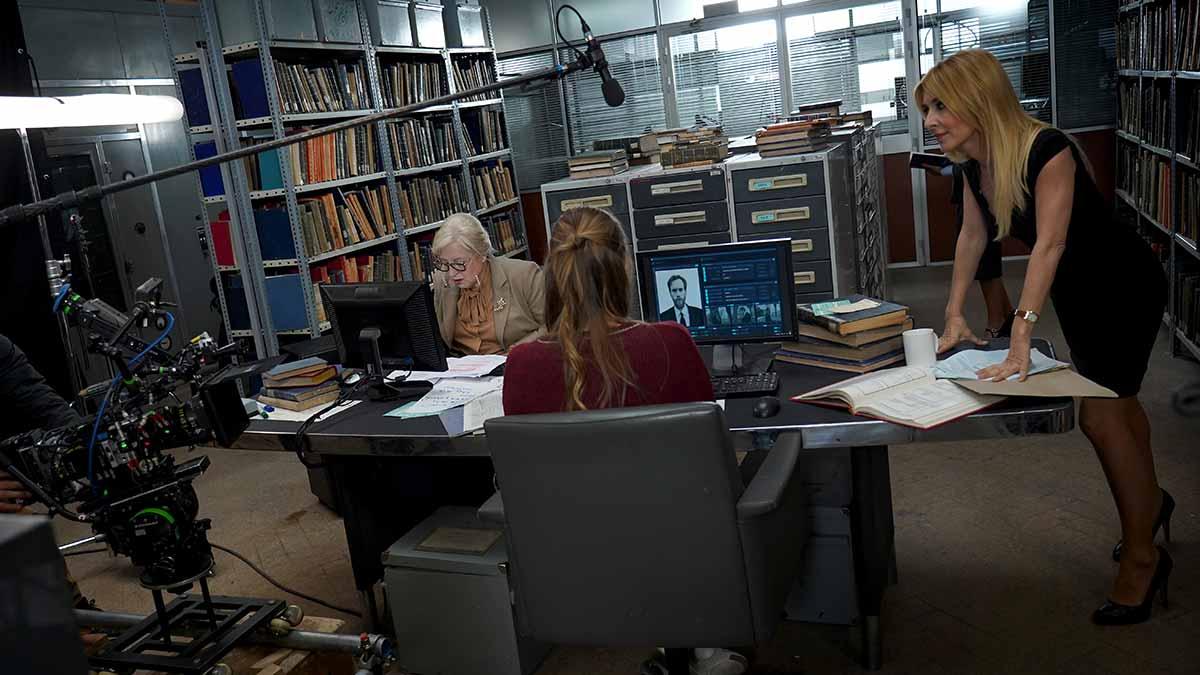 Un momento de la grabación de la cuarta temporada de la serie El Ministerio del Tiempo.