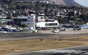 Vista del Aeropuerto Internacional de Tegucigalpa.